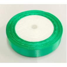Лента атласная 2см*25ярд зеленый
