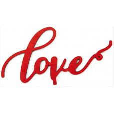 Топпер в торт, Love, Красный, 1 шт.