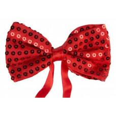 Маскарадный галстук-бабочка из полиэстера 12.5*1.5*7см красный