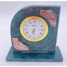 """Часы """"Полуовал"""", камень: креноид, змеевик"""