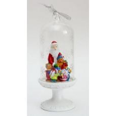 """Новогоднее украшение из полирезины и стекла 6.4*6.4*16см """"Дед Мороз и Зверята"""""""