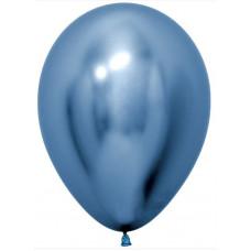 Шар (5''/13 см) Reflex, Зеркальный блеск, Синий (940), хром, 50 шт. Sempertex