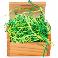 Наполнитель Бумажный зеленый микс 50г