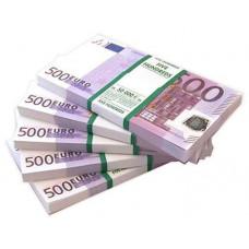 Шуточные деньги 500 евро 100шт/уп