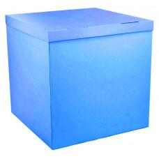 Коробка для воздушных шаров, Синий, 70*70*70 см, 1 шт