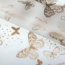 """Бумага-плёнка матовая 60см*60см """"Бабочки"""" 20шт"""