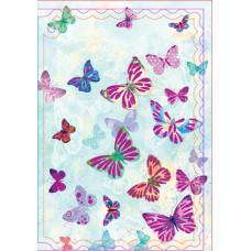 """Мини открытка """"Бабочки в небе"""" 20шт"""