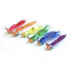 Декоративные птицы из перьев, в ассортименте 13см 1шт