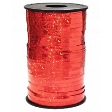 Лента Полипропилен голография 0.5см*250м красный