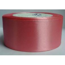 Лента атласная 4см*25ярд пепельно-розовый