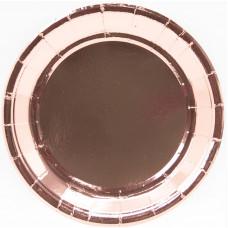 Тарелки (9''/23 см) Розовое Золото, 6 шт.