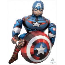 Шар (39''/99 см) Ходячая Фигура, Мстители, Капитан Америка, 1 шт. в упак. Anagram