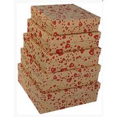 Коробка Влюбленные сердца, Крафт, 24,5*24,5*7,5, 1 шт.