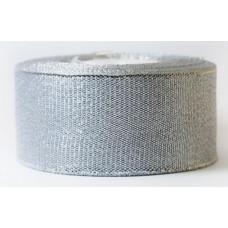Лента Парча 4см*25ярд серебряный