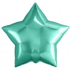 Шар (19''/48 см) Звезда, Бирюзовый, 1 шт. Agura