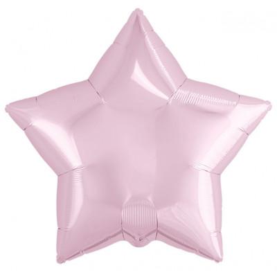 Шар (19''/48 см) Звезда, Нежно-розовый, 1 шт. Agura