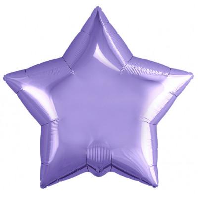 Шар (19''/48 см) Звезда, Сиреневый, 1 шт. Agura