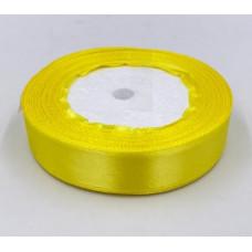 Лента атласная 2см*25ярд желтый