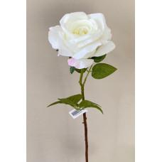 Роза искусственная, белый, 70 см., 1 шт.
