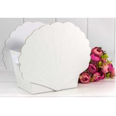 Коробка подарочная, Ракушка, Белый, 19*12*16 см, 1 шт.