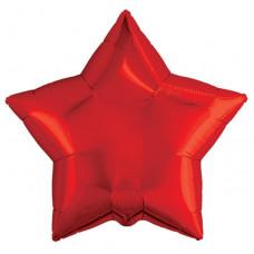 Шар (19''/48 см) Звезда, Красный, 1 шт. Agura