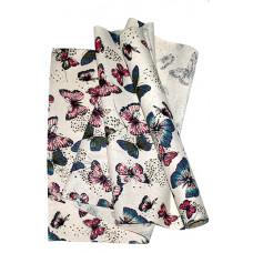Ткань декор. 11/03 искуств. лен полет бабочки 48см*4.5м Fabric 11/03