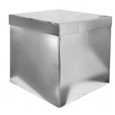 Коробка для воздушных шаров Серебро, Метал, 70*70*70 см, 1 шт.