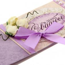 """Набор для создания конверта д/денег """"В день свадьбы"""" 25,5*31,9см"""