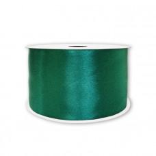 Лента атлас 5см*22,85м тёмно-зелёный