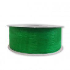Лента органза 2,5см*22,85м зелёный