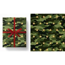 Упаковочная бумага (0,7*1 м) Милитари, 5 шт.