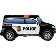 """Шар фольгированный 33""""/84см фигура """"Полицейская машина"""" чёрный Flexmetal"""