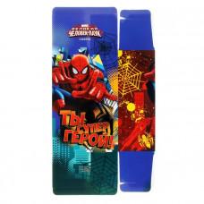 """Сборная коробка-конфета  1шт 14*22 """"Ты супер герой"""" Человек паук  1123172/1"""