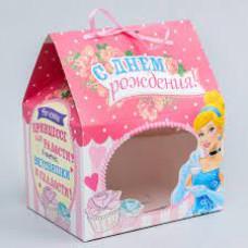 """Сборная коробка  1шт 13*20 """"С Днем Рождения!"""" Принцессы 1145013/1"""
