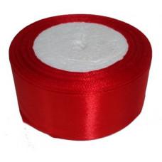 Лента атласная 5см*25ярд красный