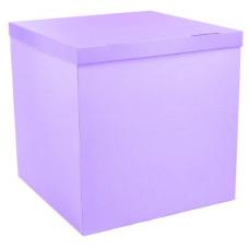 Коробка для воздушных шаров, Сиреневый, 70*70*70 см, 1 шт