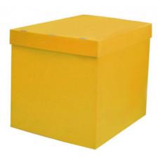 Коробка для воздушных шаров, Жёлтый, 70*70*70 см, 1 шт