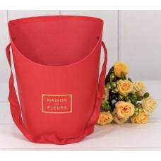 Коробка для цветов Maison des fleurs, Красный, 18*13*22 см, 1 шт.