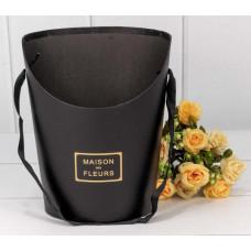 Коробка для цветов Maison des fleurs, Черный, 18*13*22 см, 1 шт.