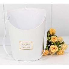 Коробка для цветов Maison des fleurs, Белый, 18*13*22 см, 1 шт.
