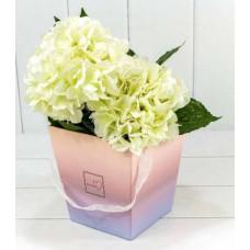 Коробка для цветов Flowers, Градиент Розовый/Сиреневый, 17*17*18 см, 1 шт.