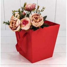 Коробка для цветов Красный, 17*17*18 см, 1 шт.