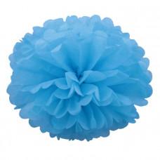 Декоративное украшение, Помпон, Голубой, 30 см.