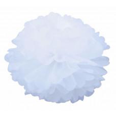 Декоративное украшение, Помпон, Белый, 30 см.