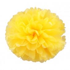 Декоративное украшение, Помпон, Желтый, 30 см.