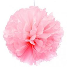 Декоративное украшение, Помпон, Розовый, 30 см.