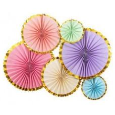 Набор дисков Золотая кайма, 40 см, 6 шт.