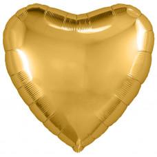 Шар (18''/46 см) Сердце, Золото, 1 шт. Agura