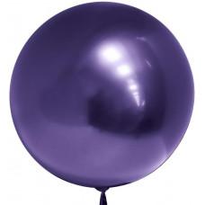 Шар (18''/46 см) Сфера 3D, Deco Bubble, Фиолетовый, Хром, 1 шт. Falali