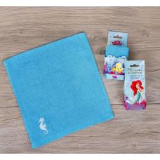 """Полотенце в открытке """"Принцессы: Ариель"""" 30*30см"""